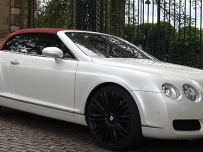 Bentley Continental GTC sports car hire in London