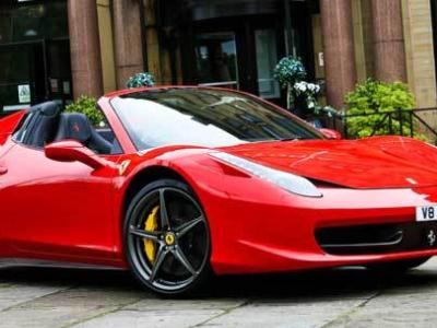 Ferrari 458 Italia Spyder super car hire in London