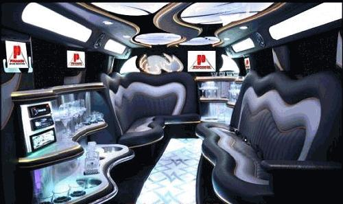 Chauffeur driven stretched chrome and black 6ft tall H2 hummer limo interior in Manchester, Liverpool, Cheshire, Chester, Stockport, North West, Blackburn, Preston, Bolton, Wigan, Lancashire.