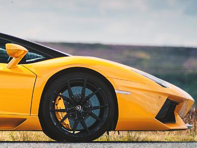 Lamborghini Aventador Roadster sports car hire London