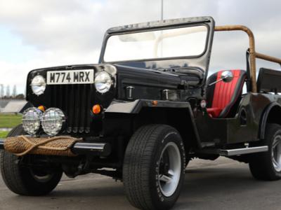 Mahindra LWB Indian Jeep wedding car hire in London
