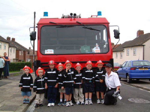 Fire Engine limo hire interior in Newcastle, Sunderland, Durham, North East for childrens party