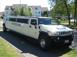 Chauffeur stretch black Hummer H2 limo hire in Liverpool, Manchester, Bolton, Warrington, North West